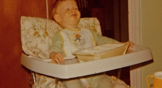 Nathan in the highchair 1978