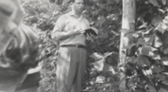 PJ preaching bw
